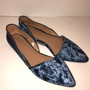 a new day D'orsay Crushed Velvet Flats